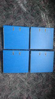 4 blaue Ordner 400 Prospekthüllen