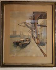 Aquarell Gemälde von Heinz Friedrich -