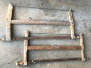 Alte Bügelsägen 4 Stück gebrauchter
