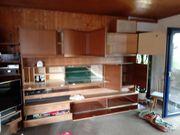 Wohnzimmerschrank abgebaut