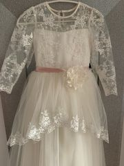 Kommunionskleid Blumenmädchenkleid Festkleid Kleid 128