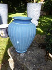 Blumen Vase hellblau