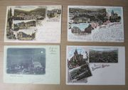 13 alte Postkarten Baden Baden