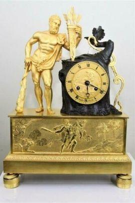 Sonstige Antiquitäten - Antike Französische Figurenuhr Kaminuhr Kaminpendule