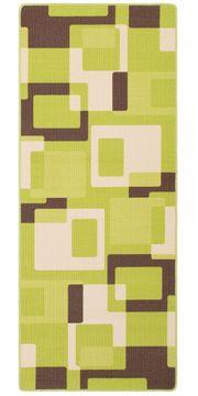 Teppichläufer grün 80x200 cm