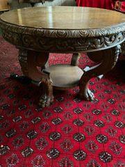 Runder Salon Tisch aus Eiche