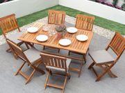 Gartenmöbel Set Holz 6-Sitzer CENTO neu
