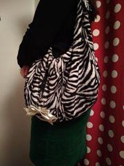 Handtasche mit Zebra Muster