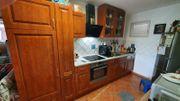 Küchenzeile Einbauküche Geräte Nussbaum