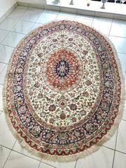 Persischer Ghom Seide Oval Fein