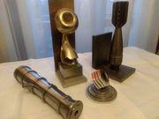 4 Teile Metall Skulpturen Messing