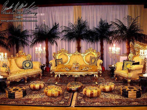Barock Luxus Lounge Möbel Deko