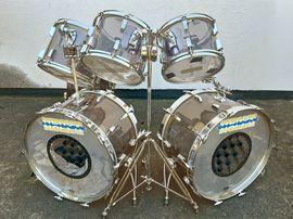 Vintage-Drum-Set SONOR Phonic Acryl smokey: Kleinanzeigen aus Neulußheim - Rubrik Drums, Percussion, Orff