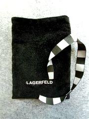 Lagerfeld Beutel schwarz Samt