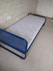 Metall Bett 90 200 blau