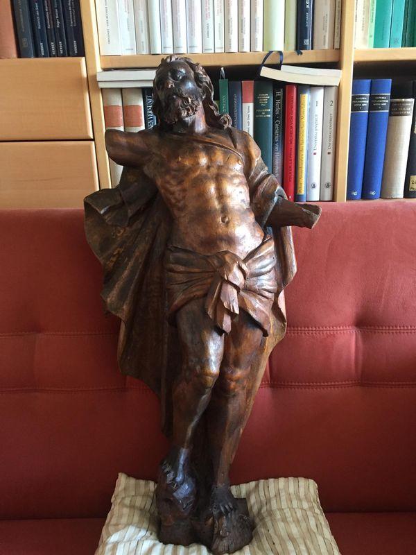 Barocke Holzskulptur - Segnender Christus triumphiert