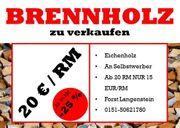 20EUR RM Brennholz Kaminholz - Eiche