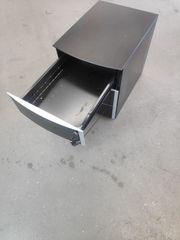 Home Office Set Arbeitstisch Rollcontainer-schwarz
