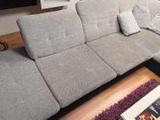 Ecksofa Sofa grau schwarz Couchgarnitur