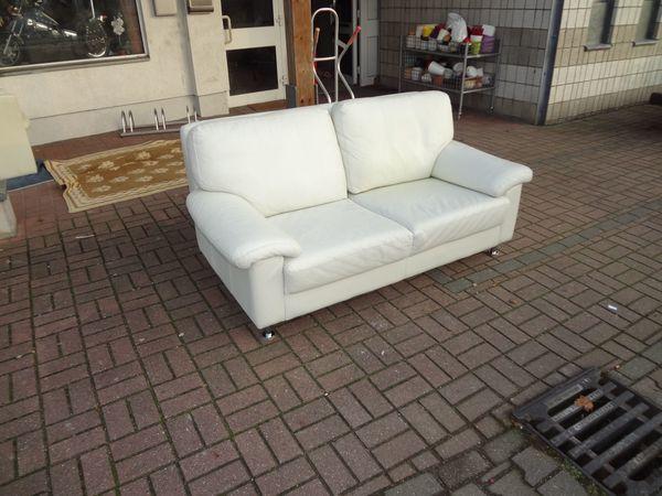 Helles Leder Sofa Couch von