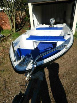 Boot NECKO 340 für 3 - 4 Personen mit E-Motor und Trailer als Komplettangebot