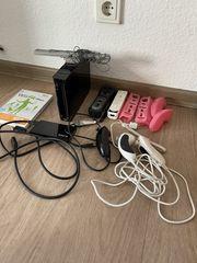 Wii mit Zubehör einer Festplatte