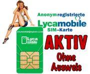 Lycamobile DE SIM-Karte AKTIV Registriert