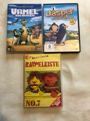 3 DVDs Urmel Jasper Rappelkiste