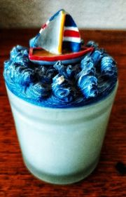 Kerze im Glas mit Motivdeckel