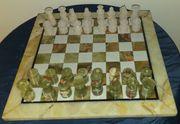 Exclusives Schachspiel Schachbrett Marmor Stein