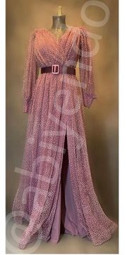 Abendkleid Abiye Tüllkleid in Lavendel -