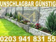 Betonzaun Betonzäune Sichtschutz Gartenzaun MSBAU24