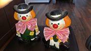 2 Clown-Spardosen Geschenk-Idee u a