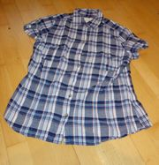 schöne blaukarierte Bluse von L
