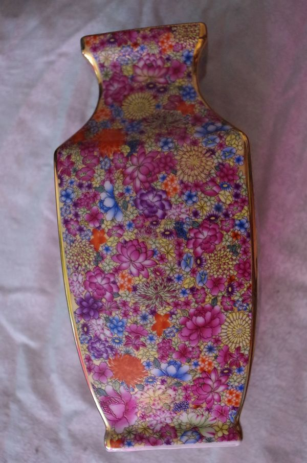 China Porzellan Vase Antik Gold flor. sign. Yongzheng