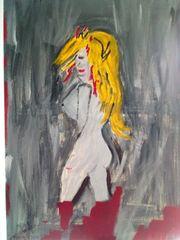 Acrylbild -Apstrakt-Kunst-Aktmotel