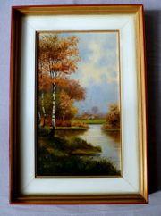 3 tolle alte Gemälde Maritim