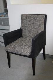 4 Esszimmerstühle Stoffbezug unbenutzt neuwertig -