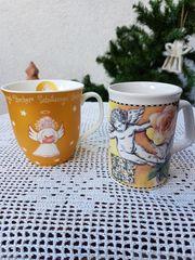 Neuwertiges romantisches Porzellan-Becher-Set