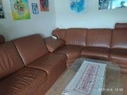 Echtleder-Sofa