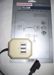 Erweiterungsdose f 3 analoge Telekommunikationsgeräte