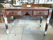 Vintage Schreibtisch aus Mangoholz Massivholz