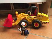 Bagger Radlader Bauarbeiter von Playmobil