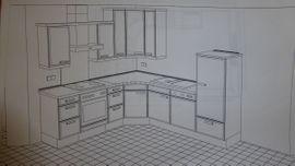 Küchenzeilen, Anbauküchen - Küche in L Form zu