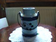 Kleine Milchkanne blau Weis