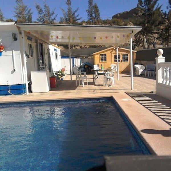 SPANIEN Mobilehome Alucasa Ferienhaus extra