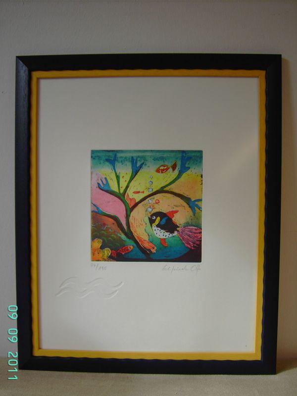 Gemälde - Farbradierung von Otto Elfriede -