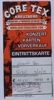 Eintrittskarte Obrint Pas SO36 Berlin
