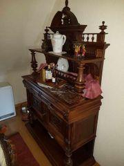 Gründerzeit Antik Möbel Esstisch Wohnzimmerschrank