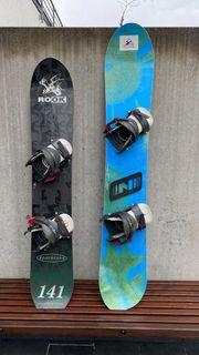 Snowboards mit Schuhen preiswert abzugeben